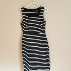 Ann Taylor striped Pencil dress